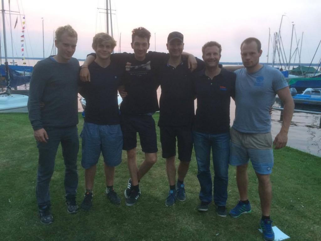 Von Links: Moritz Reumschüssel, Emil Frederking, Joshua von Lepel, Markus von Lepel, Jörg Saenger, Max Jambor